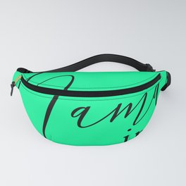 'Namaste in this Pose' in Neon Mint Green and Black Yoga Exercise Fanny Pack
