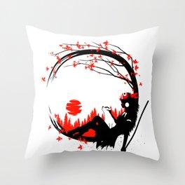 Princess Wolf circle Throw Pillow