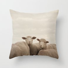 Smiling Sheep  Throw Pillow