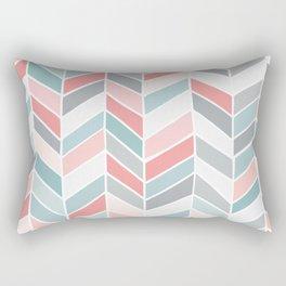 Pastel Chevrons Rectangular Pillow