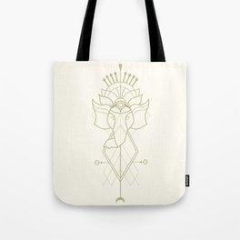 Elephant Ganesh Geometry Tote Bag