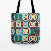 anchors Tote Bags featuring anchors by Sharon Turner