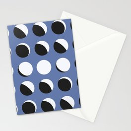 Moon Phased in Blue Stationery Cards