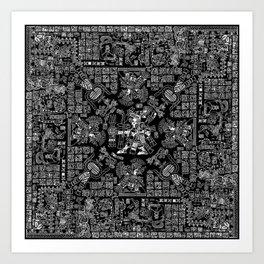 Mayan Spring B&W II Art Print