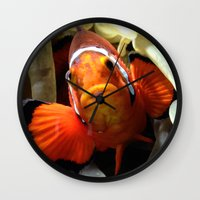 finding nemo Wall Clocks featuring Nemo  by RevatiN