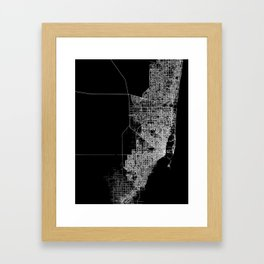 miami map Framed Art Print