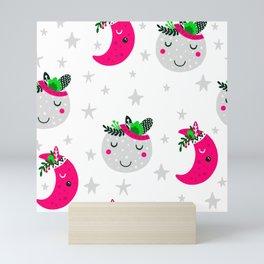 pink moon Mini Art Print