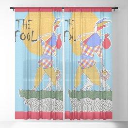 The Fool Tarot Card Sheer Curtain
