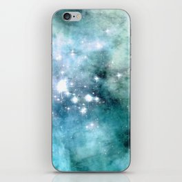 nEbulA Aqua Teal Sparkle iPhone Skin