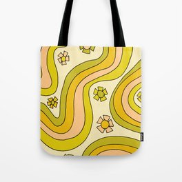 groovy rainbow flower power wallpaper vibes Tote Bag