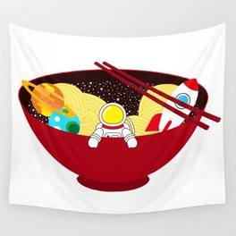 Space Odyssey Ramen | Astronaut Ramen | Bowl of Space Ramen | Galaxy in a Bowl | pulps of wood Wall Tapestry