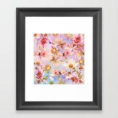 sweet romance Framed Art Print