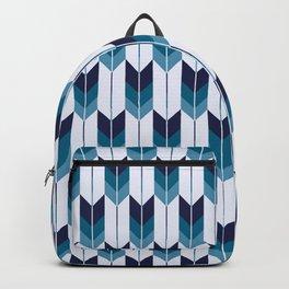 Japanese Neck Gator Blue and White Japanese Pattern Backpack