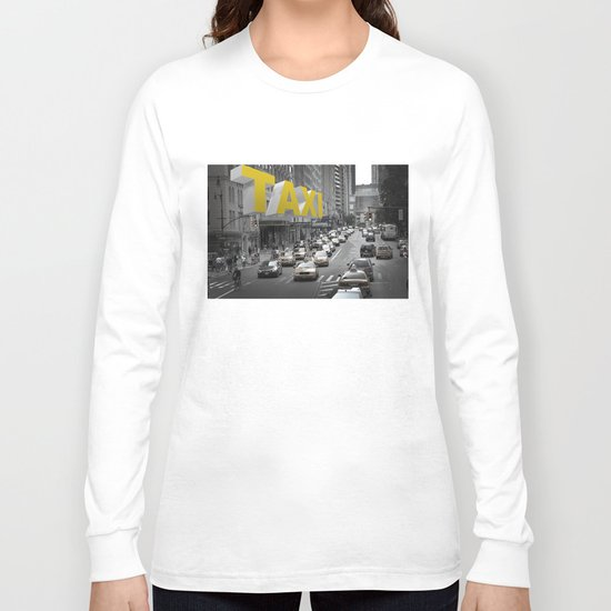 New York Taxi in the air Long Sleeve T-shirt