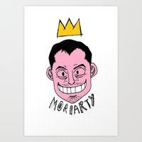 moriarty Art Prints featuring Moriarty by Hypermeganeko