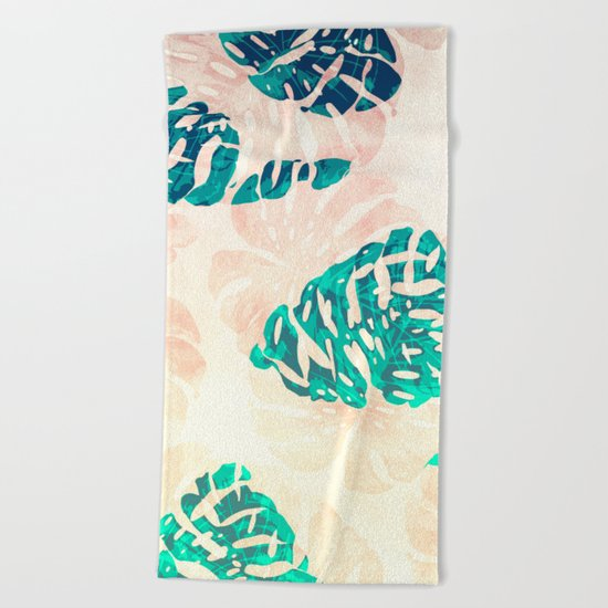 CALI TROPICAL LEAVES Beach Towel
