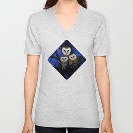Owl Family Unisex V-Neck
