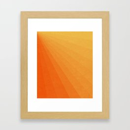 Shades of Sun - Line Gradient Pattern between Light Orange and Pale Orange Framed Art Print