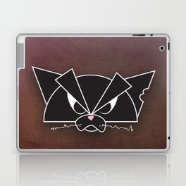 Crabby Cat - black Laptop & iPad Skin