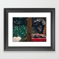 gorillas take over humanity Framed Art Print