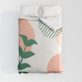 Peachy Fern Minimalism Comforters
