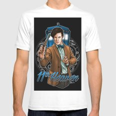 11th Heaven Doctor Who Mens Fitted Tee White SMALL