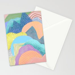 Modern Landscapes and Patterns Stationery Cards
