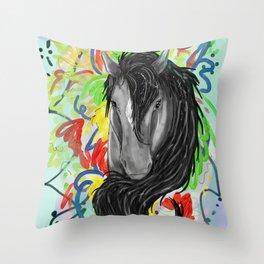 Fancy Pony Throw Pillow