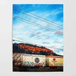 Graffiti and Lines Poster