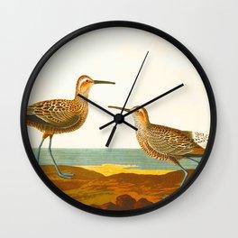 Long-legged Sandpiper Bird Wall Clock
