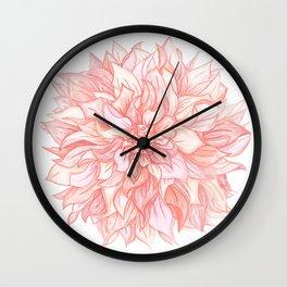 Dreamy Dahlia Wall Clock