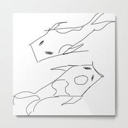 Feeling a Little Koi // Feng Shui Fish Art Metal Print