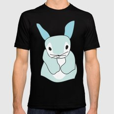 Blue Bunny Rabbit SMALL Black Mens Fitted Tee