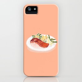 Grilled plump fish and star potato salad iPhone Case