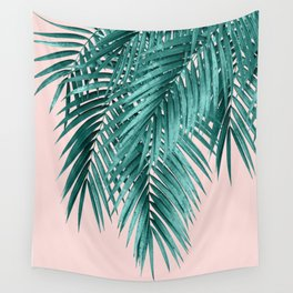 Palm Leaves Blush Vibes #1 #tropical #decor #art #society6 Wall Tapestry
