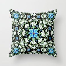 Beaux Arts Folkloric Lily Throw Pillow