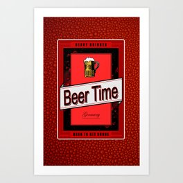 Beer Time Art Print