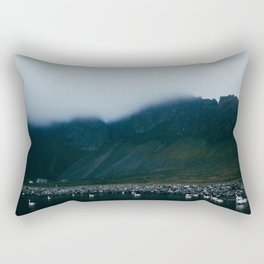 swan lake in iceland Rectangular Pillow