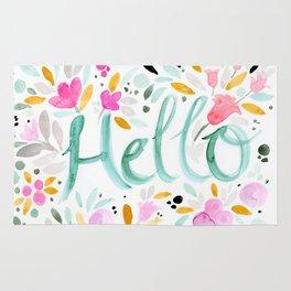 Hello - Floral Rug