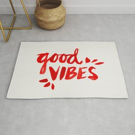 Good Vibes – Red Ink Rug