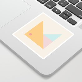 Modern Minimal Geometry Sticker
