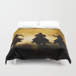 Three Cowboys Western Duvet Cover