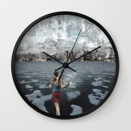 No Distance is Too Far Wall Clock