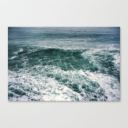 Waves.Ocean.Water Texture.35mm film.Oregon.Sea.Coast.Teal. Canvas Print