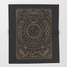 Memento Mori - Prepare to Party Throw Blanket