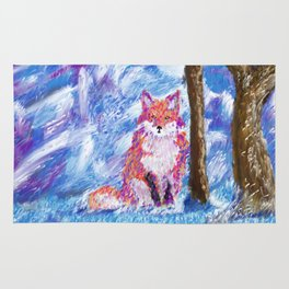 Calm Winter Fox Rug
