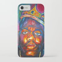 biggie smalls iPhone & iPod Cases featuring BIGGIE SMALLS by Molly Forster