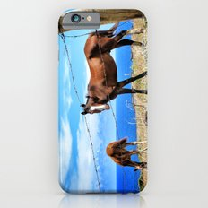 Horses against a blue sky Slim Case iPhone 6s