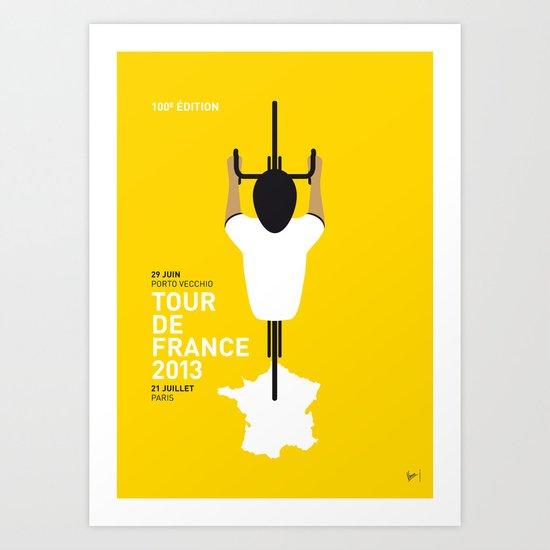 MY TOUR DE FRANCE MINIMAL POSTER 2013 Art Print
