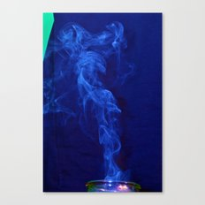 Blue Smoke Canvas Print